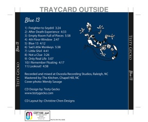 Testy Gecko - Blue 13 CD Back Cover