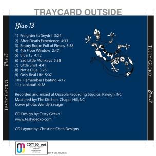 Testy Gecko - Blue 13 CD Back Cover