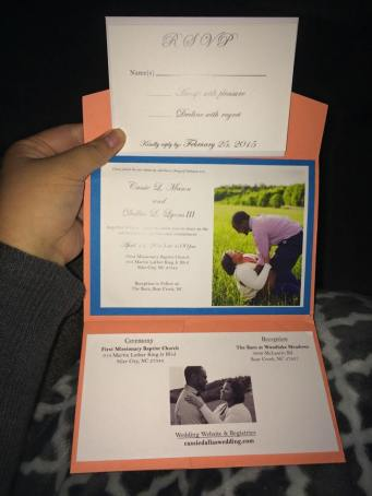 Cassie & Dallas Wedding Invite