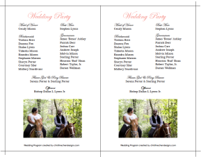 Cassie & Dallas Wedding Program Back