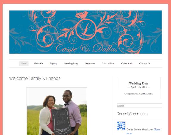 Cassie & Dallas Wedding Website